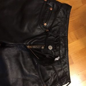 Lucky Brand black leather pants